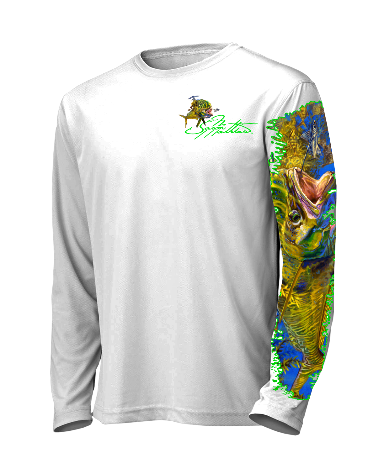 jason-mathias-shirt-line-front-mahi-dorado-dolphin-art-offshore-performance-clothing-gear.png